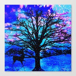 TREES AND STARS Canvas Print