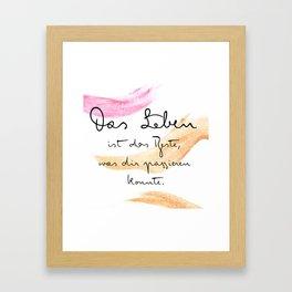 Das Leben Framed Art Print