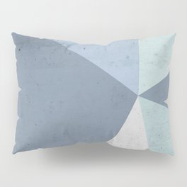 Winter Blue Geometry Pillow Sham