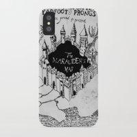 marauders iPhone & iPod Cases featuring Marauders Map by bimorecreative