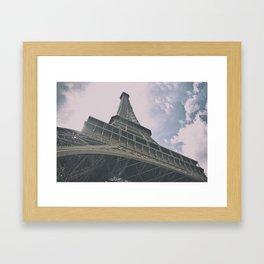 Eiffel Tower in Paris, France. Landmark in France Framed Art Print