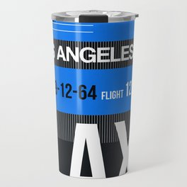 LAX Los Angeles Luggage Tag 3 Travel Mug