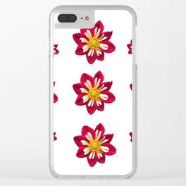 Dahlia Pinwheels Clear iPhone Case