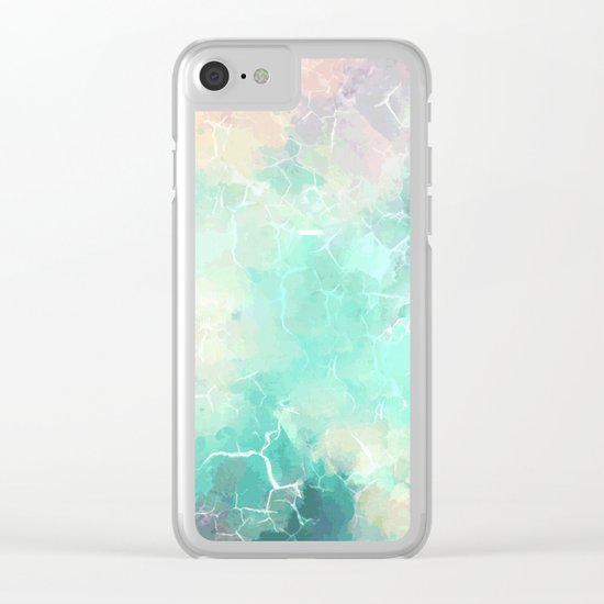 Marble #society6 Clear iPhone Case