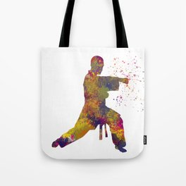 Taekwondo-karate competition in watercolors 07 Tote Bag