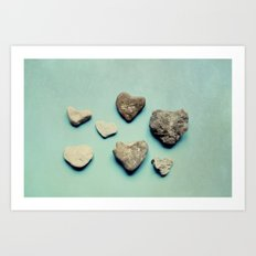 love rocks Art Print