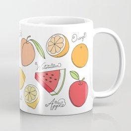 Fruit Doodles Coffee Mug