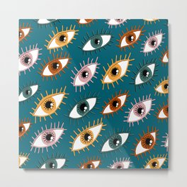Eyes Limited Palette Pattern Metal Print