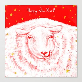 Year of the sheep Canvas Print