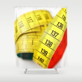 Measuring tape Shower Curtain