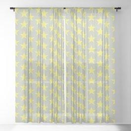 Stars Pattern 45 Sheer Curtain