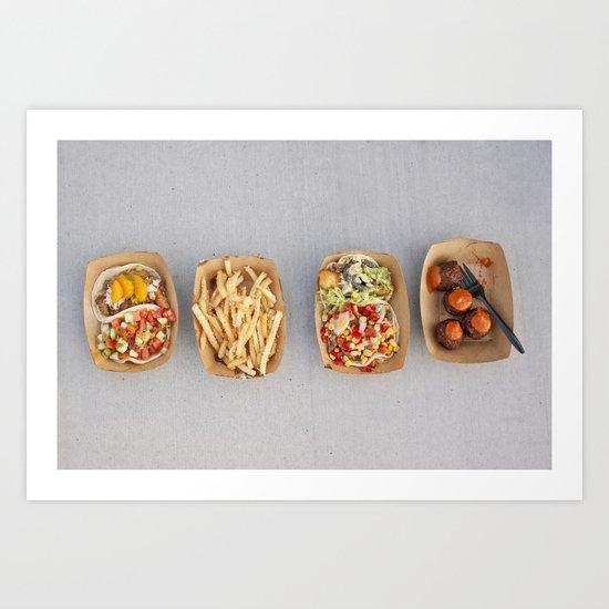 Food Organized Neatly Art Print