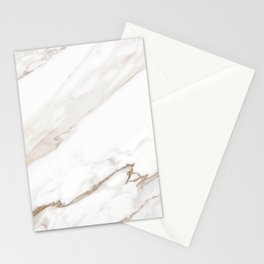 Cream White Marble Stationery Cards