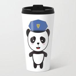 Panda Police Officer Travel Mug