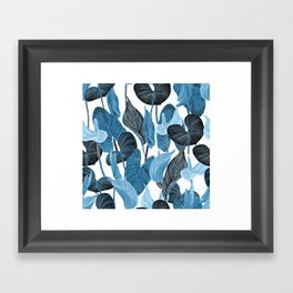 Lush Lily - chambray Framed Art Print