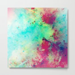 Join The Heavens - Abstract Space Painting Metal Print