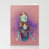 nightmare before christmas Stationery Cards featuring Sally - Nightmare before christmas by KanaHyde