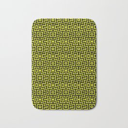 Yellow Buzz Puzzle Choctaw Pattern Bath Mat
