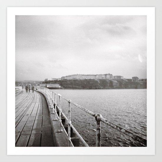 Along Whitby Pier... Art Print