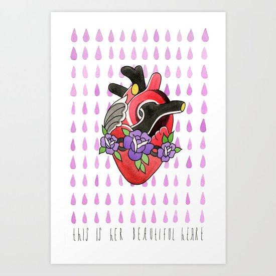 Beautiful Heart Art Print