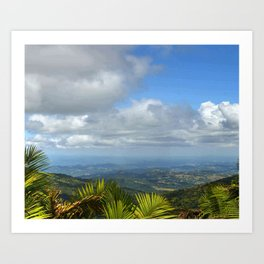 View at 3,000 feet alt. from El Yunque peak -  El Yunque rainforest PR Art Print