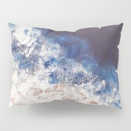 Abstract paintings ocean, pink navy, ink blue Pillow Sham