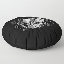 Poe vs. Lovecraft Floor Pillow