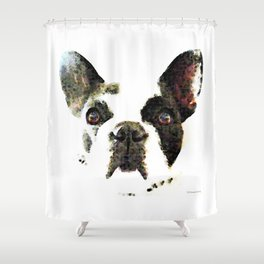French Bulldog Art - High Contrast Print by Sharon Cummings Shower Curtain