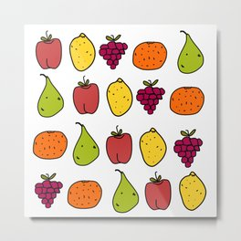 Fruits in a Line Metal Print
