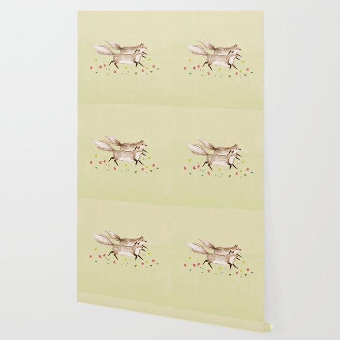Running Foxes Wallpaper