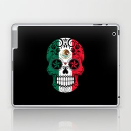 Sugar Skull with Roses and Flag of Mexico Laptop & iPad Skin