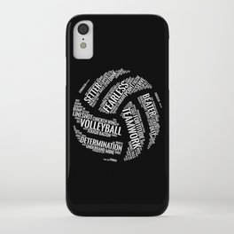 White Volleyball Wordcloud - Gift iPhone Case