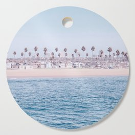 Vintage Newport Beach Print {3 of 4}   Photography Ocean Palm Trees Cool Blue Tropical Summer Sky Cutting Board
