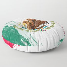 Mexico's Flag Design Floor Pillow