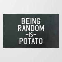 random Area & Throw Rugs featuring Random by Vectored Life