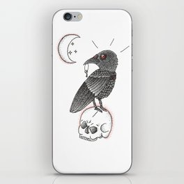 A Crow For Life iPhone Skin