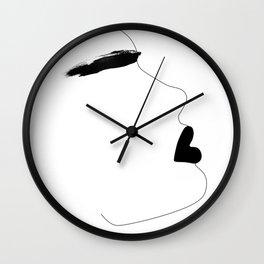 Watercolor brow Wall Clock
