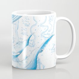 Blue Whales On White Coffee Mug