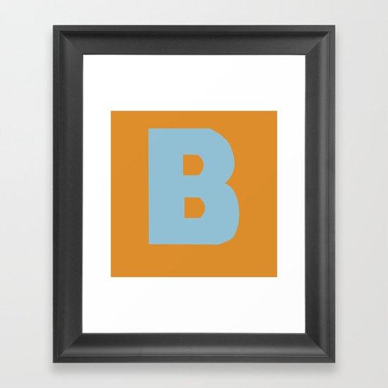 Blue B Framed Art Print