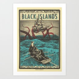 Black Islands Band Art Print