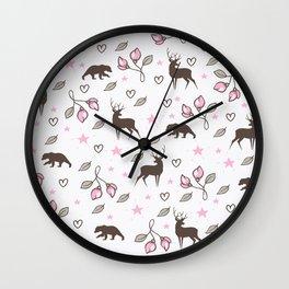 Wild sweet pattern design Wall Clock