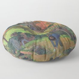 The willow tree  Paul Gauguin Floor Pillow