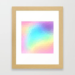 Pastel Rainbow Gradient With Stained Glass Effect Framed Art Print