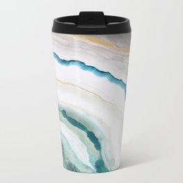 Green Agate #1 Metal Travel Mug