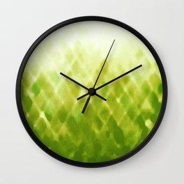 Diamond Fade in Green Wall Clock