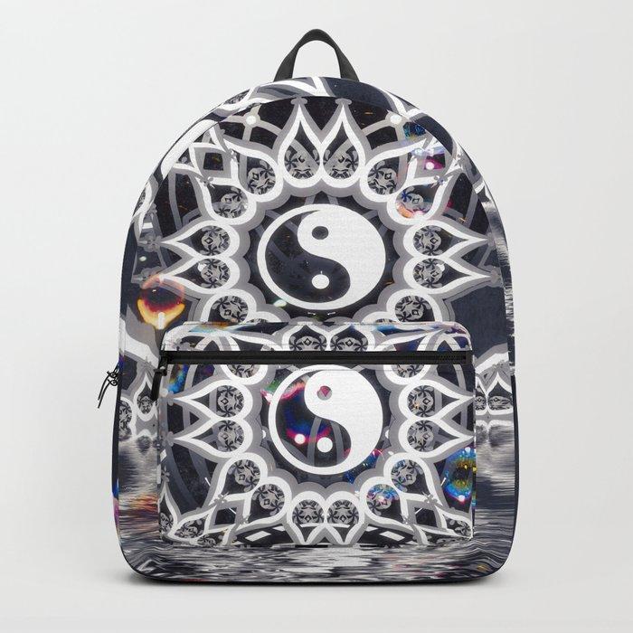 Yin Yang Symmetry Balance Reflection Backpack