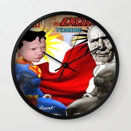 COLLAGE: Match Wall Clock