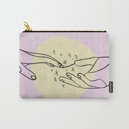 The Spark Between the Touch Of Our Hands Carry-All Pouch