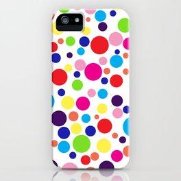 Polk-a-dot colors iPhone Case