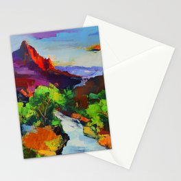 ZION - The Watchman and the Virgin River Stationery Cards